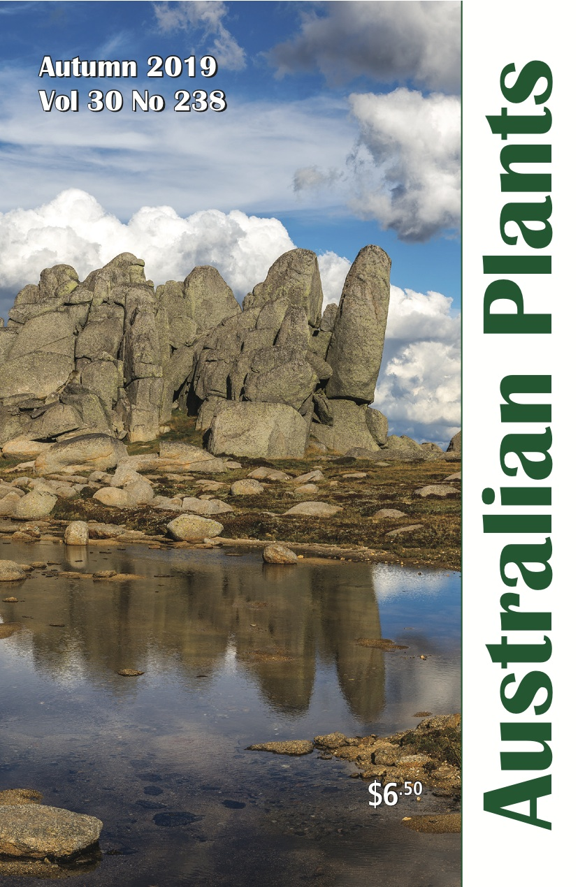 Cover of Autumn 2019 issue of Australian Plants with alpine herbfields